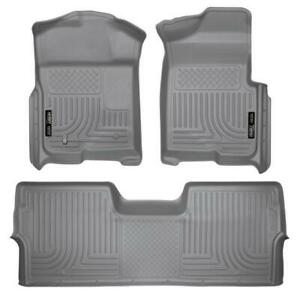 Husky Liners 2009 2014 Ford F 150 Supercrew Front 2nd Row Floor Mats 98332