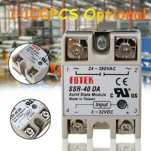 Ssr 40 Da 40a Solid State Relay Module For Pid Temperature Controller Dc To Ac