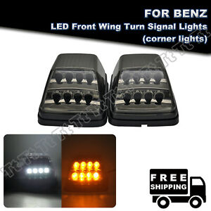 Amber White Led Turn Signal Lights Smoked For 90 18 Mercedes Benz W463 G550 G500