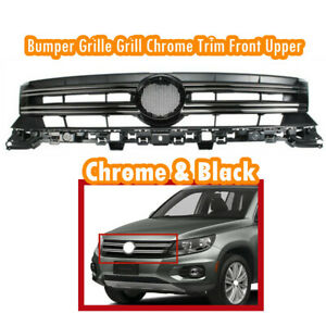 Fit For Vw Tiguan 2013 17 Bumper Grille Grill Chrome Trim Front Upper 5nd853651b