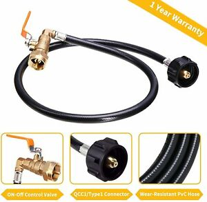 Propane Refill Adapter Hose350psi High Pressure Camping Grill Qcc1 Type 355
