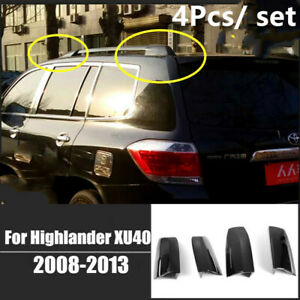 4x Roof Rack Covers Rail End Shell Replacement For Toyota Highlander Xu40 08 13