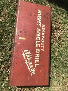 Vintage Milwaukee 1107 1 Heavy Duty Corded 1 2 Inch Right Angle Drill