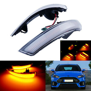For Ford Focus Mk2 Mk3 Mk4 Mondeo Dynamic Front Led Wing Mirror Indicator Light