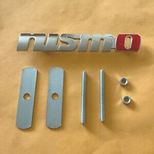 Chrome Nismo Grill Badge Front Emblem 3d Metal Car Logo With Screw Fittings