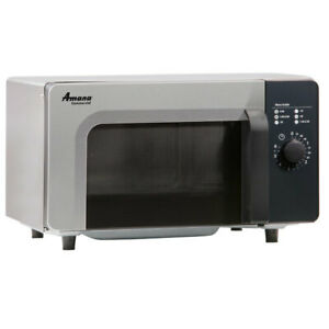 Stainless Steel Commercial Electric Microwave With Dial Controls 120v 1000w