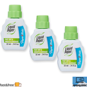 Liquid Paper Fast Dry Correction Fluid Pack Of 3