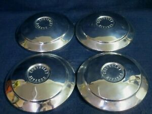 Chevy Corvair 1960 1964 Metal Wheel Cover Hubcap dog Dish Set Of 4