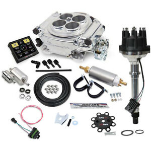 Holley Sniper 550 510k Efi Shiny W fuel Supply dist Kit Sbc bbc