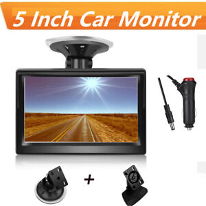 Tft Lcd Hd Color Screen Monitor 5 Inch For Car Rear View Reverse Backup Camera