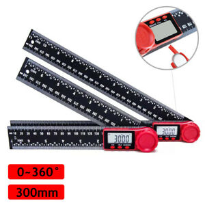12 Electronic Lcd Digital Angle Finder Protractor Gauge Ruler With Batteries