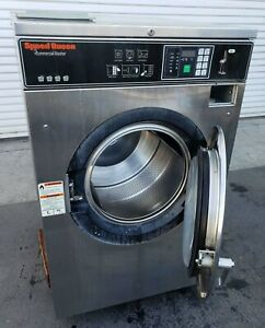 Speed Queen Front Load Washer Coin Op 40lb 208 240v S n 0801008153 refurb