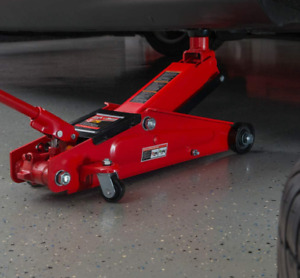 Big Red Torin Hydraulic Trolley Service Floor Jack With Extra Saddle 3 Ton Red