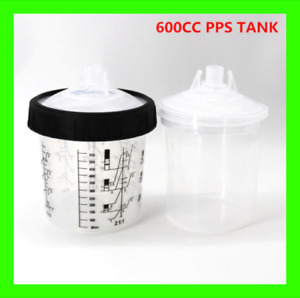 Disposable Paint Cup 600cc Spray Gun Pps Tank Type H o Quick Cup Adapter Pot