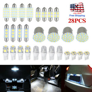 28 Assorted Led Car Interior Inside Light Dome Trunk Map License Plate Lamp Bulb