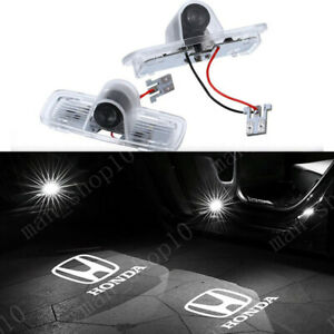 2x Logo Led Door Light Laser Projector Hd For Honda Accord Crosstour Pilot White
