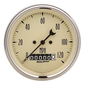 Autometer 1879 Antique Beige Electric Programmable Speedometer