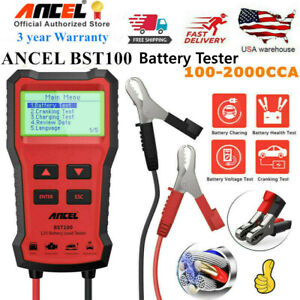 Ancel Bst100 12v Automotive Car Battery Tester Charging Cranking Test Analyzer