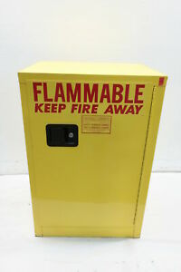 Securall A105 Yellow Safety Storage Cabinet For Flammable Liquids 12gal