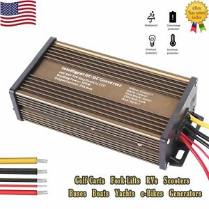 Golf Cart Dc Converter 48v 48 Volt Voltage Reducer Regulator To 12v 25a 300w