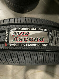 4 New 215 60 17 Yokohama Avid Ascend Tires