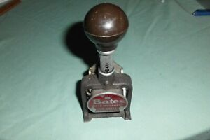 Vintage Bates Numbering Stamp Machine 6 Wheels lever Movement Style E