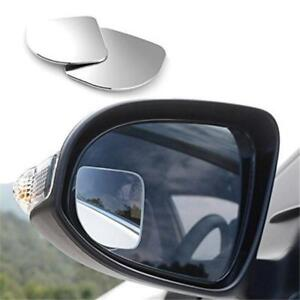 2pcs 360 Wide Angle Convex Rear Side View Blind Spot Mirror For Universal Car