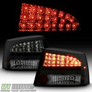 Black Smoked 2006 2008 Dodge Charger Lumileds Led Tail Lights Lamps Left right