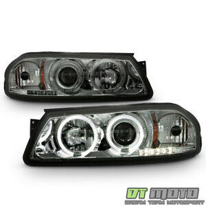 Smoked 2000 2005 Chevy Impala Led Halo Projector Headlights Lights Left right