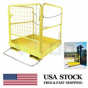 36 X 36 Forklift Safety Cage Work Platform Heavy Duty Collapsible Lift Aerial
