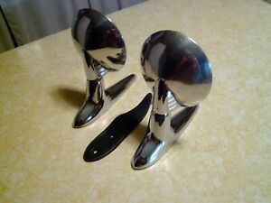 Vintage Pair 1950 s Art Deco Clam Shell Side Mirrors