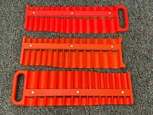 Snap On Tools Miscellaneous Magnetic Socket Tray Lot Set Of 3 Mr3828