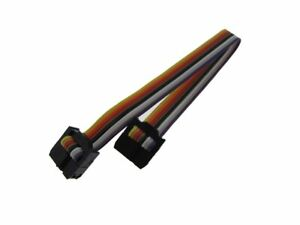 Hq 2x4 8 pin 2 54mm Idc Jtag Isp Cable Multiple Color Ribbon Wire
