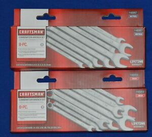 Craftsman New 16 Pc Sae And Metric Combination Wrench Set 46858 46867 Ts163
