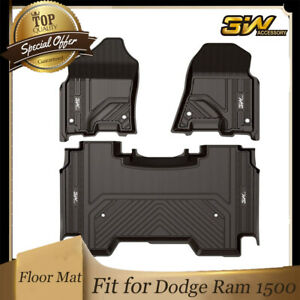 3w High Quality Floor Mats Liners Tpe For 2019 2020 2021 Dodge Ram 1500 Crew Cab