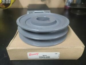 B Section Dual Groove 2 Pc 6 Pulley W 1 3 8 Sheave Shiv Cast Iron 5l V Belt