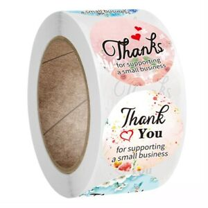 500x Thank You For Supporting My Small Business Stickers Gold Foil Seal Bestneyg