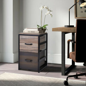 File Cabine Mdf Vertical Filing Cabinet With 2 Drawers Storage Home Organizer Us