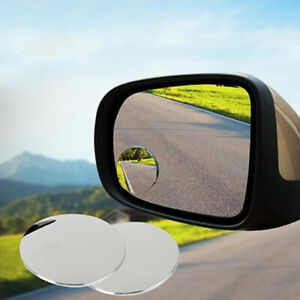 2pcs 360 Wide Angle Convex Car Blind Spot Round Stick On Rear View Side Mirror