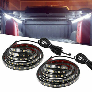 2x 60 Led Bar Truck Bed Cargo Work Light Kit Strips For Chevy Ford Dodge Gmc