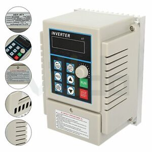1hp 220v 0 75kw Variable Frequency Driver Interver Vfd Single To 3 Phase Output