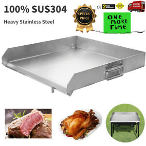 Flat Top Griddle Grill Heavy Stainless Steel For Home Single triple Burner Stove