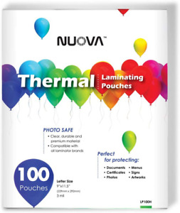 Nuova Premium Thermal Laminating Pouches 9 X 11 5 Letter Size 3 Mil 100 Pac