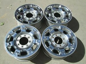 18 Ford F250 F350 Limited Oem Factory Oem Wheels Rims Chrome Clad Set 4