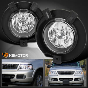 Fits 2002 2005 Ford Explorer Clear Driving Bumper Fog Lights Lamps Left Right