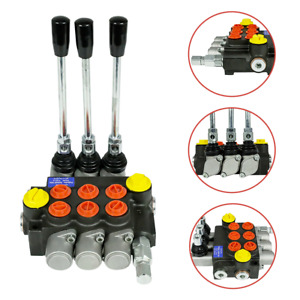 Hq 3 Spool Hydraulic Directional Control Valve Manual Operate 3600psi 13gpm