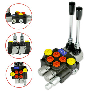 2 Spool 13gpm Hydraulic Directional Control Valve Tractor Loader W Joystick