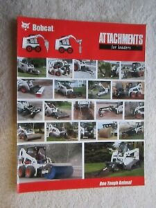Bobcat Skid Steer All Attachments Fold Out 8 Page Brochure