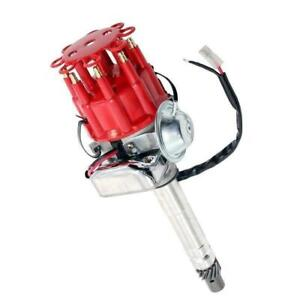 Ready To Run Hei Distributor Red Small Cap For Small Big Block Sbc Bbc 350 454