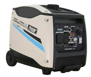 Pulsar 4500 Watt Portable Inverter Generator Electric Start W Remote Control